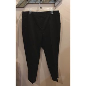NEW Women's Chino Straight Leg Black Dress Pants